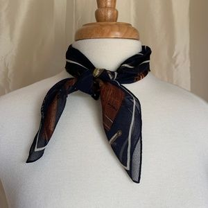 Echo Navy Sheer Scarf-Excellent Condition